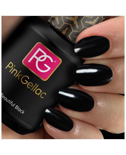 Pink Gellac 120 Beautiful Black Color Esmalte Gel Permanente