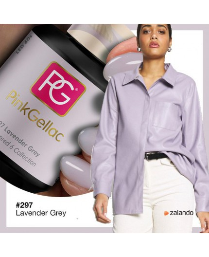 Pink Gellac 297 Lavender Grey color esmalte gel permanente