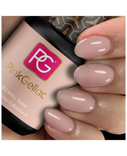 Pink Gellac 253 Milky Taupe color esmalte gel permanente
