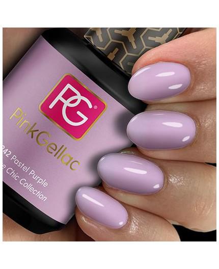 Pink Gellac 242 Pastel Purple Color Esmalte Permanente