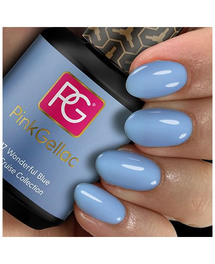 Pink Gellac 217 Wonderful Blue Pink Color Esmalte en gel permanente