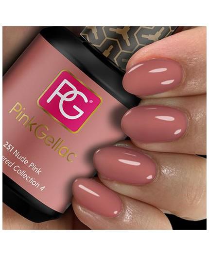Pink Gellac 251 Nude Pink color esmalte gel permanente