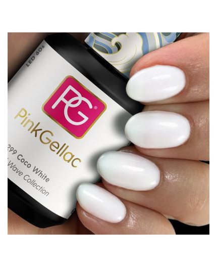 Pink Gellac 299 Coco White Color Esmalte en gel permanente