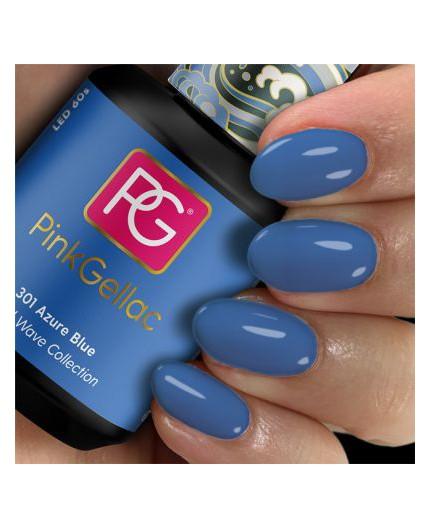 Pink Gellac 301 Azure Blue Esmalte en gel permanente