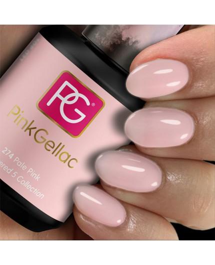 Pink Gellac 274 Pale Pink Color Esmalte Gel Permanente