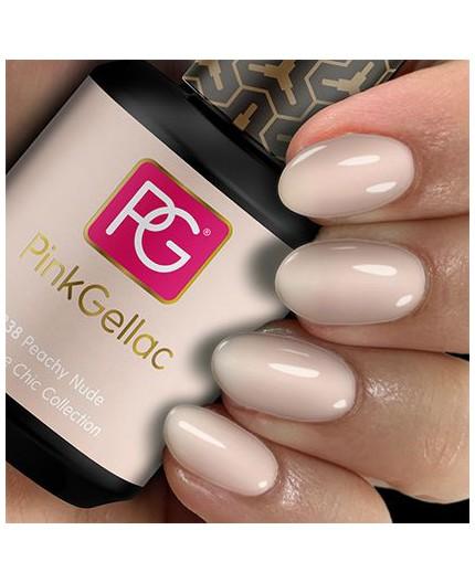 Pink Gellac 238 Peachy Nude Color Gel Permanente