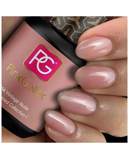 Pink Gellac 166 Vintage Nude Color esmalte en gel permanente
