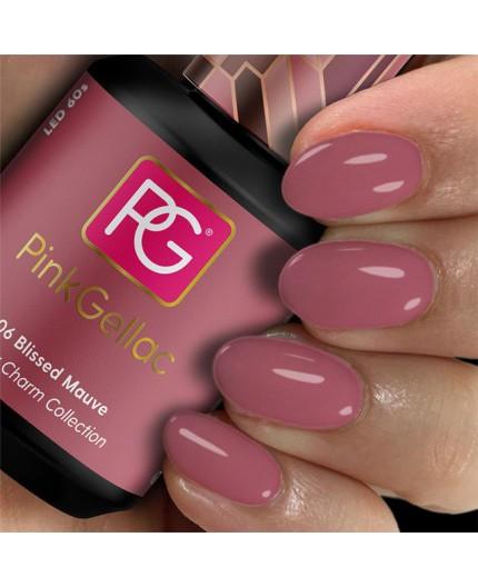 Pink Gellac 306 Blissed Mauve Color Esmalte en gel permanente