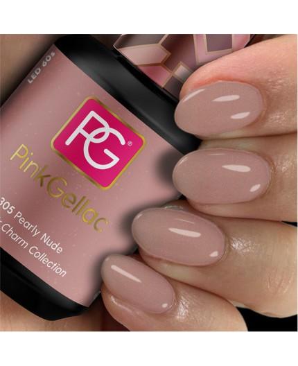Pink Gellac 305 Pearly Nude Color Esmalte en gel permanente