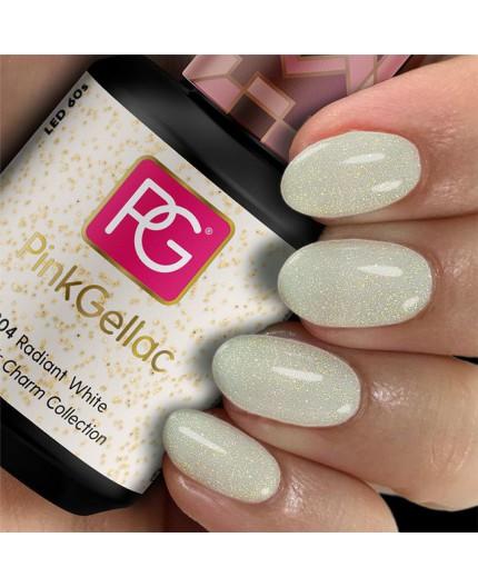 Pink Gellac 304 Radiant White Color Esmalte en gel permanente