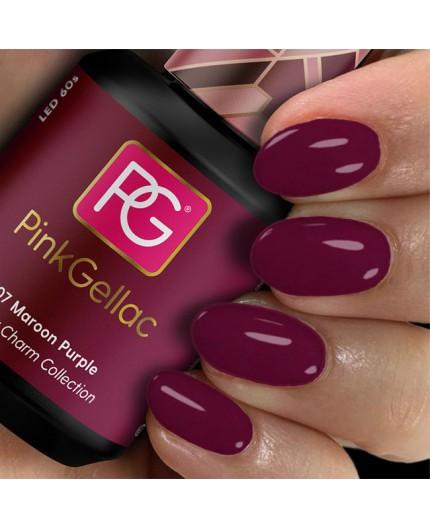 Pink Gellac 307 Maroon Purple Color Esmalte en gel permanente