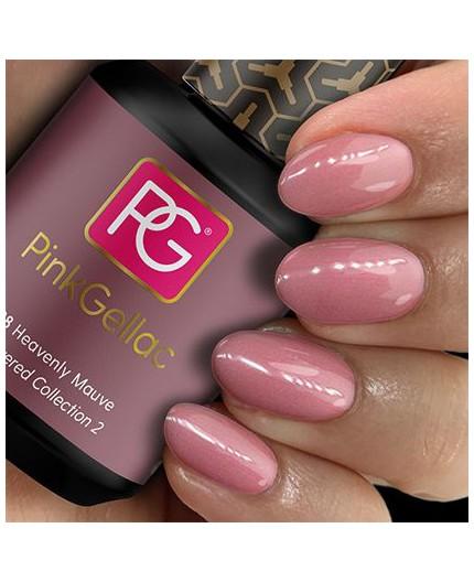 Pink Gellac 198 Heavenly Mauve Color Esmalte Gel Permanente