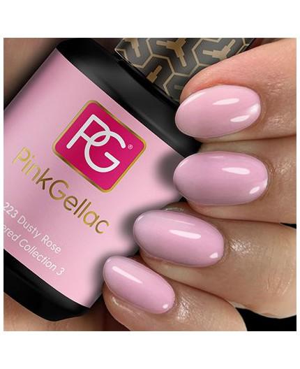 Pink Gellac 223 Dusty Rose Color Gel Permanente
