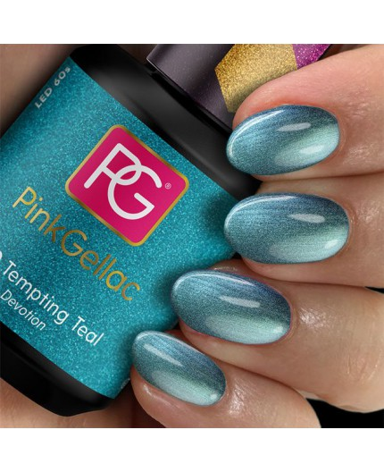 Pink Gellac 310 Tempting Teal Color Esmalte en Gel Permanente
