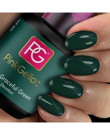 Pink Gellac 309 Graceful Green Color Esmalte en Gel Permanente