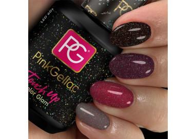 Da a tu manicura un toque festivo con este acabado que contiene diversas purpurinas.