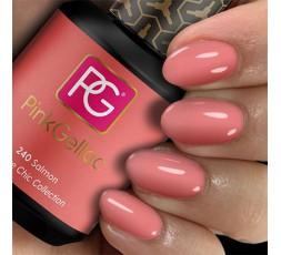 Precioso rosa salmón de Pink Gellac para una manicura perfecta.