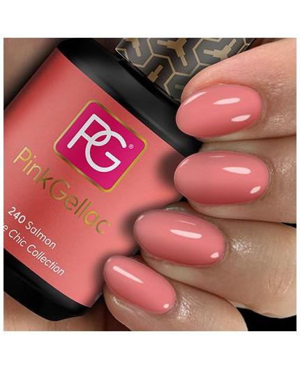 Pink Gellac 240 Salmon Color Esmalte en Gel Permanente