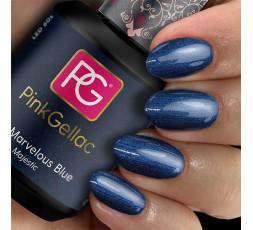 Marvelous Blue es el esmalte en gel color azul majestuoso de Pink Gellac.