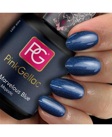 Pink Gellac 172 Marvelous Blue Color Esmalte Gel Permanente