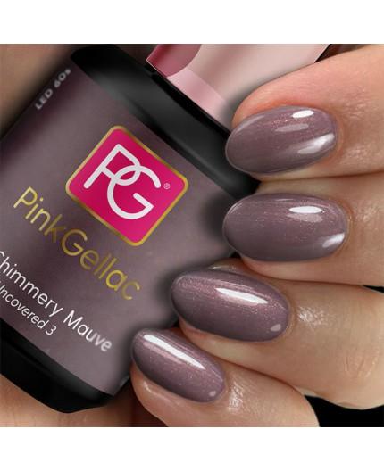 Pink Gellac 225 Shimmery Mauve Color Esmalte Gel Permanente