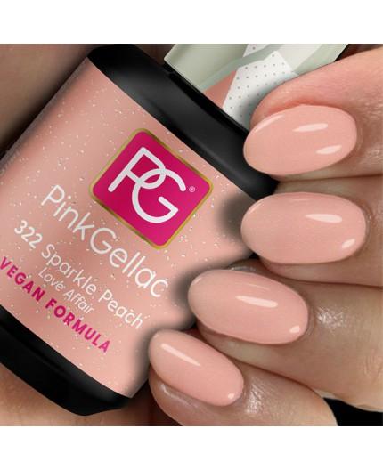 Pink Gellac 322 Sparkle Peach Color Esmalte Gel Permanente