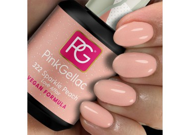 El Pink Gellac 322 Sparkle Peach se incluye en la colección Love Affair compuesta de 5 tentadores tonos que te van a enamorar!!