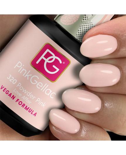 Pink Gellac 320 Powder Pink Color Esmalte Gel Permanente