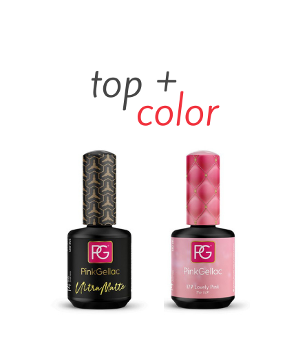Top Ultra Matte + Color 179 Lovely Pink