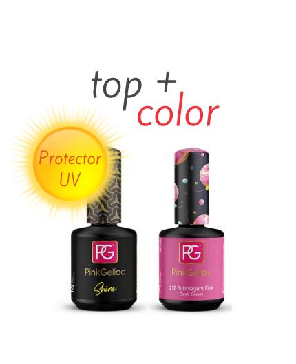 Top Shine + Color 212 Bubblegum Pink