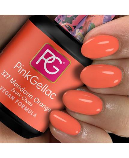Pink Gellac 327 Mandarin Orange Color esmalte gel permanente