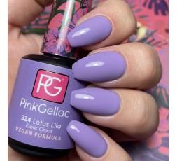 ¿Cómo queda el color lila 324 lotus lila de Pink Gellac en la uña?