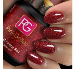 El color del esmalte de gel 233 Flashy Red es un color maravilloso y brillante.