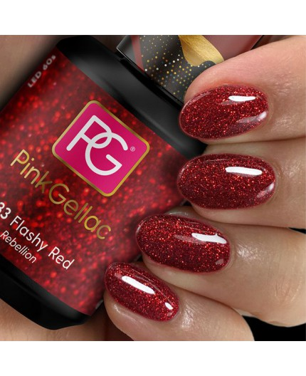 Pink Gellac 233 Flashy Red Color Gel Esamlte Permanente