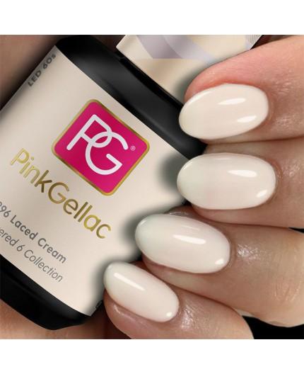 Pink Gellac 296 Laced Cream color esmalte gel permanente