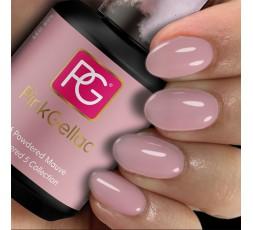 Pink Gellac 276 Powdered Mauve es un color de esmalte de gel suave y neutro con un tono lila de fondo.