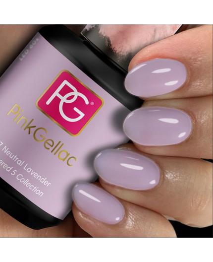 Pink Gellac 277 Neutral Lavender Color Esmalte Gel Permanente
