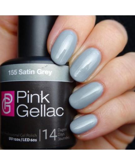 Pink Gellac 155 Satin Grey Color Esmalte Gel Permanente