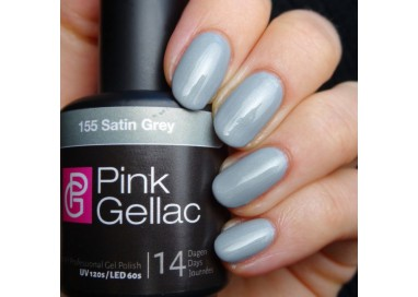 Pink Gellac 155 Satin Grey Color Esmalte Gel Permanente