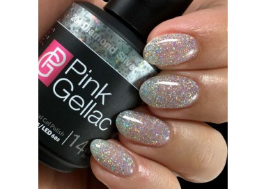 Pink Gellac 204 Diamond Silver Color Esmalte Gel Permanente