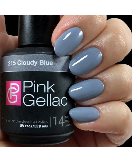 Pink Gellac 215 Cloudy Blue Color Esmalte Gel Permanente