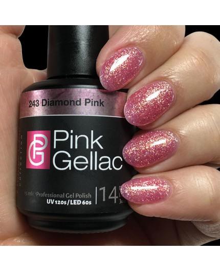 Pink Gellac 243 Diamond Pink Color Esmalte Gel permanente